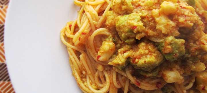 Spaghetti al Pesto Calabrese con Broccoli e Nduja