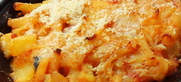 Pasta e patate al forno all'Aiellese