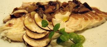 pesce castagna e funghi silani